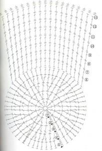 шапка крючком с цветком схема