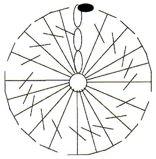 Вязаная панама - схема цветка