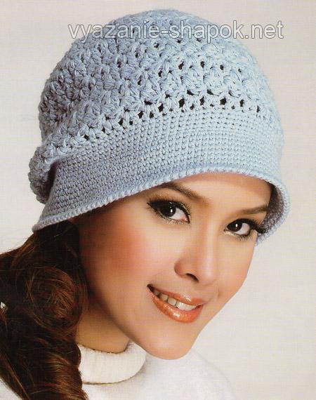 вяжем шапку на осень