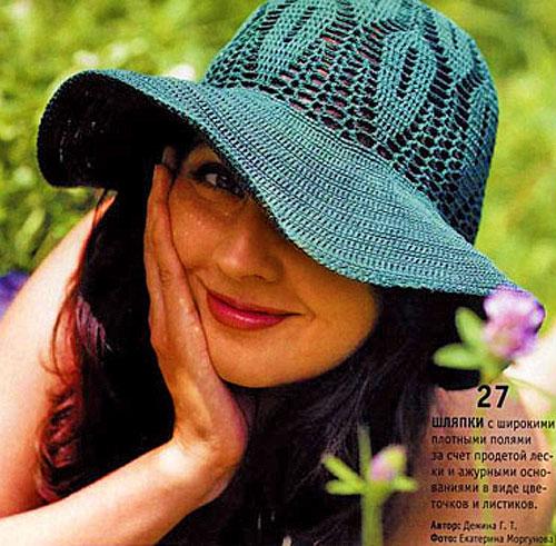 Летняя вязаная шляпа