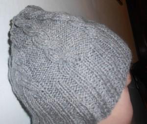Зимняя мужская шапка спицами