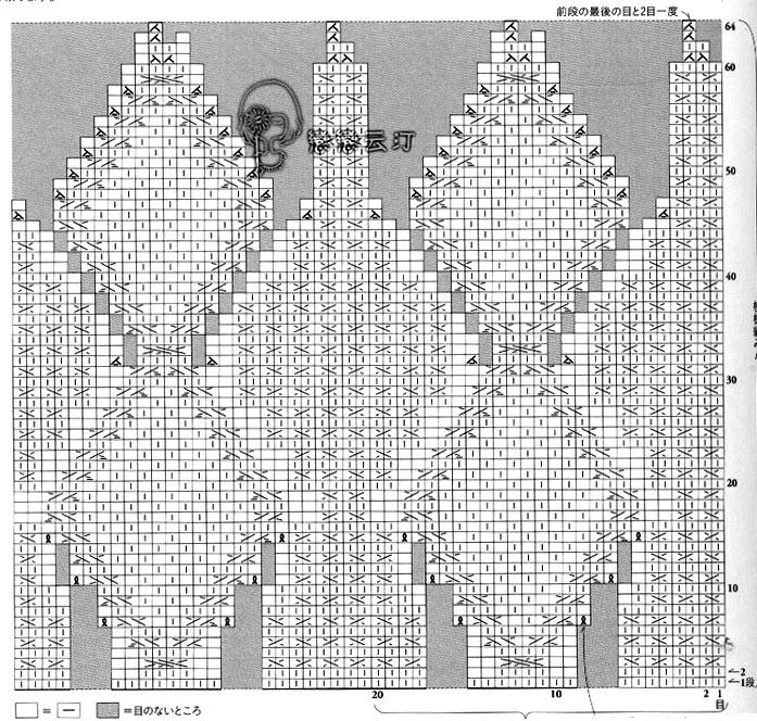 Схема узора аранами