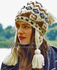 Перуанская шапка спицами