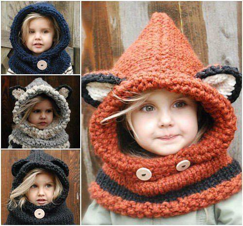 Детский капор спицами - вяжем удобную шапку для ребенка
