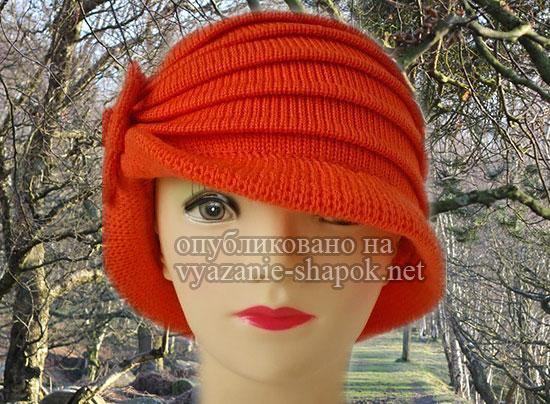 Связать весеннюю шапку спицами женскую